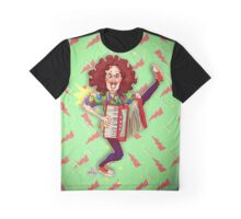 Alfred (Weird Al) Yankovic and Harvey the Wonder Hamster Graphic T-Shirt
