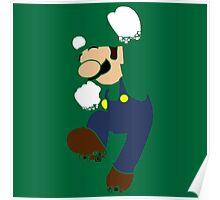 Pixelation Silhouette: Luigi Poster