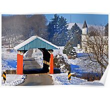 Hopewell Church Covered Bridge, Perry County Ohio Poster