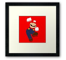 Mario Pixel Silhouette Framed Print