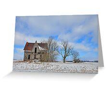 Old farmstead in Logan County, Ohio Greeting Card