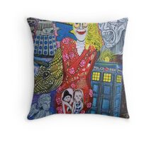 Obsessed Who Fan Throw Pillow