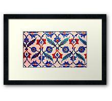 turkish tiles 4 art Framed Print