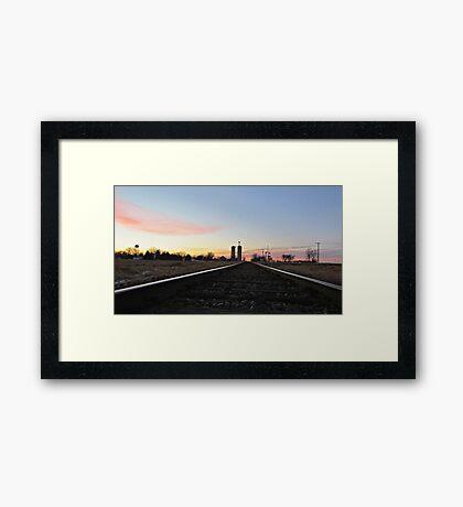 Prairie Rails Framed Print