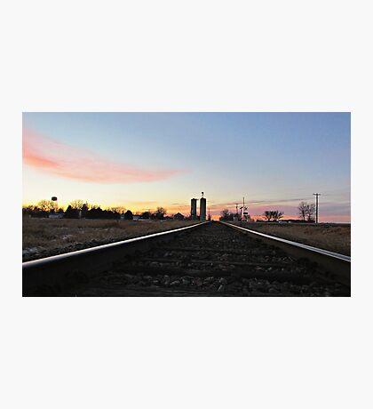 Prairie Rails Photographic Print