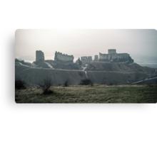 Castle Gaillard by Richard I Les Andelays 198402160027  Canvas Print
