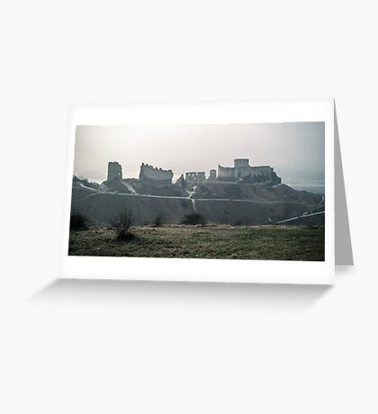 Castle Gaillard by Richard I Les Andelays 198402160027  Greeting Card