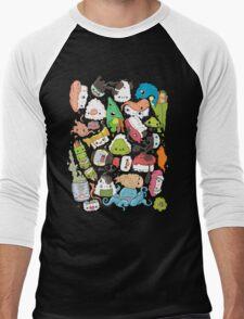 Sushi Bar: The point of Nori-turn Men's Baseball ¾ T-Shirt