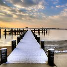 Fresh Snow On The Pier  by Monte Morton