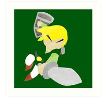 Project Silhouette 2.0: Toon Link Art Print