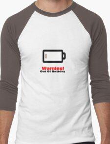 warning no battery Men's Baseball ¾ T-Shirt