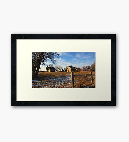 Down on Junior's Farm Framed Print