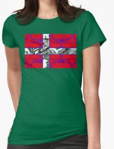 circuit board Flag (Denmark) Womens Fitted T-Shirt