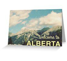 alberta Greeting Card