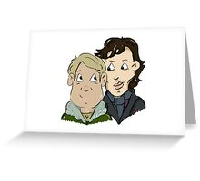 sherlock Holmes and John Watson Greeting Card
