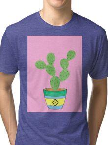 Call Me Cactus - Pink Tri-blend T-Shirt
