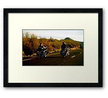Bikers, AZ Framed Print