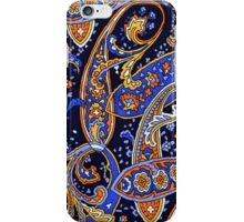 Colorful Vintage Blue and Orange Paisley Pattern iPhone Case/Skin