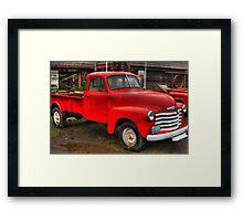 Chevy truck II (HDR) Framed Print