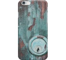 Verdigris Patina - Antique Door Lock iPhone Case/Skin