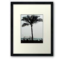 Beach Volleyballers Framed Print