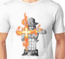 Ace mera mera no mi Unisex T-Shirt