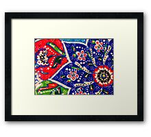turkish tiles Framed Print