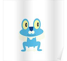 Froakie - white background Poster