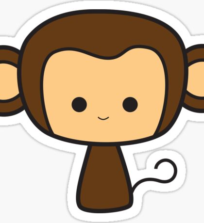 Happy Monkey Sticker