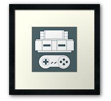 Let's Play SNES (White Framed Print