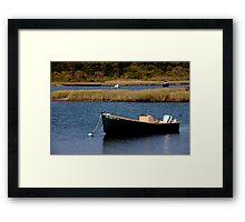 Tidal Pond Moorings Framed Print