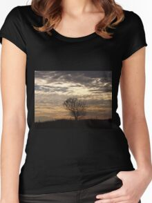 Serenity At Sunset   Women's Fitted Scoop T-Shirt