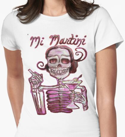 Day of the Dead Mi Martini Womens Fitted T-Shirt