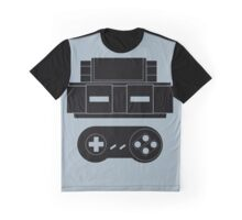 Let's Play SNES (Black) Graphic T-Shirt