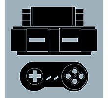 Let's Play SNES (Black) Photographic Print