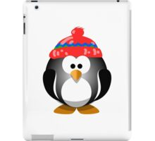 Adorable Penguin Wearing a Knitted Hat iPad Case/Skin