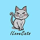I Love Cats by Ameda Nowlin