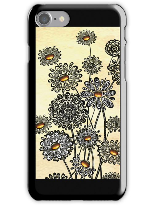Jeweled Daisies by Ameda Nowlin