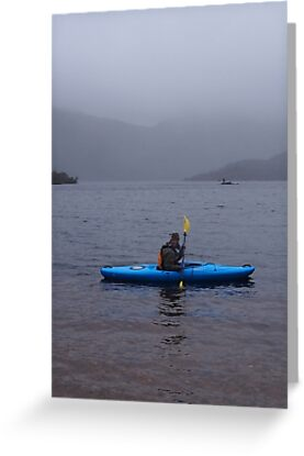 Kayaking on Dove Lake, Cradle Mountain. Tasmania by Esther's Art and Photography