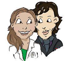 Sherlock Holmes and Molly Hooper by jill815