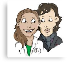 Sherlock Holmes and Molly Hooper Metal Print