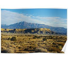 Waterpocket Fold with Henry Mountains, Utah Poster