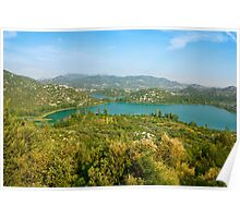 The Bacina Lakes panoramic view Poster
