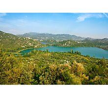 The Bacina Lakes panoramic view Photographic Print