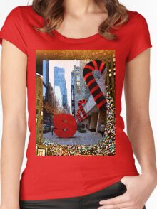 9 W. 57th St., NYC, NY Women's Fitted Scoop T-Shirt