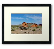 Rock formation, Valley of Fire, Nevada Framed Print