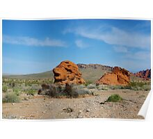 Rock formation, Valley of Fire, Nevada Poster