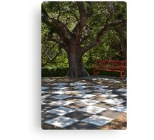 Giant Chess Board Canvas Print