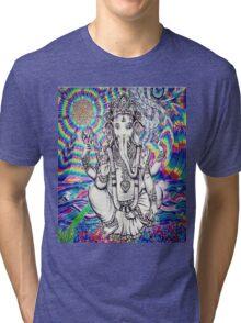 Trippy Ganesh Tri-blend T-Shirt