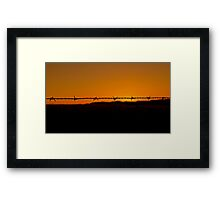 Time and Place Framed Print